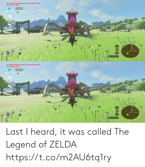 Zelda: Last I heard, it was called The Legend of ZELDA https://t.co/m2AU6tq1ry