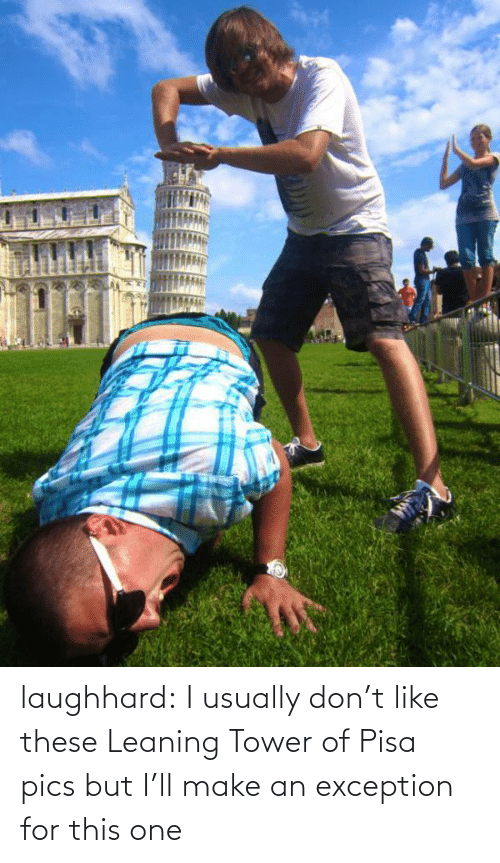 leaning tower: laughhard:  I usually don't like these Leaning Tower of Pisa pics but I'll make an exception for this one