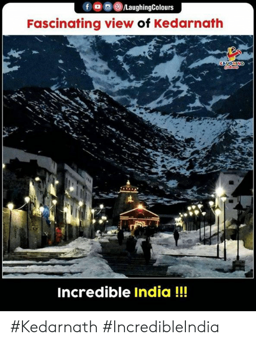 fascinating: /LaughingColours  Fascinating view of Kedarnath  LAUGHING  Incredible India!! #Kedarnath #IncredibleIndia