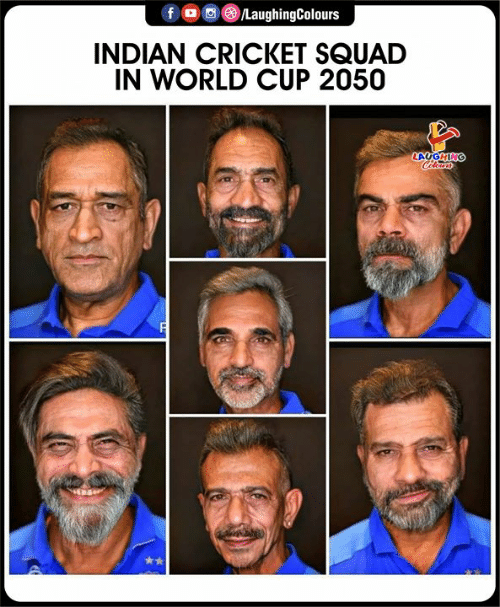 In World: /LaughingColours  INDIAN CRICKET SQUAD  IN WORLD CUP 2050  LAUGHING  Cleurs
