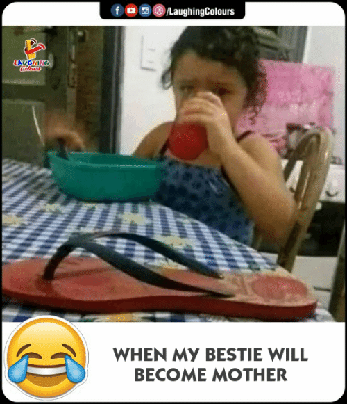 bestie: LaughingColours  LAUGHING  WHEN MY BESTIE WILL  BECOME MOTHER