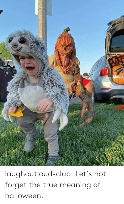 Meaning: laughoutloud-club:  Let's not forget the true meaning of halloween.