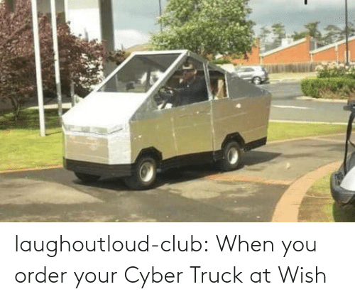 club: laughoutloud-club:  When you order your Cyber Truck at Wish