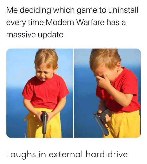 Laughs: Laughs in external hard drive