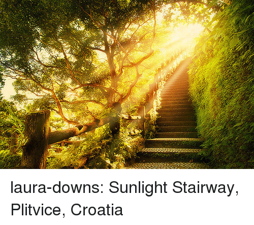 Tumblr, Blog, and Croatia: laura-downs: Sunlight Stairway, Plitvice, Croatia