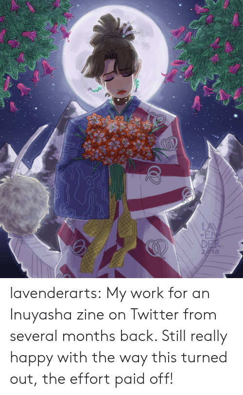 Der: LAV  EN  DER  2918 lavenderarts:  My work for an Inuyasha zine on Twitter from several months back. Still really happy with the way this turned out, the effort paid off!