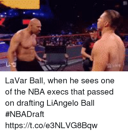 Drafting: LaVar Ball, when he sees one of the NBA execs that passed on drafting LiAngelo Ball #NBADraft https://t.co/e3NLVG8Bqw