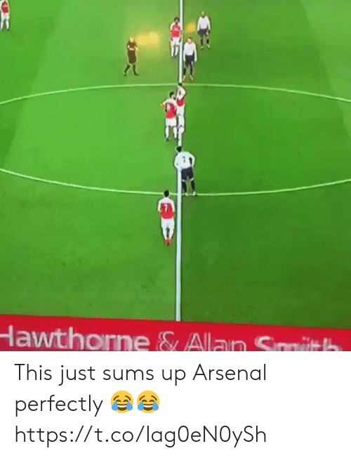 Arsenal, Soccer, and This: lawthone & Alan Smith This just sums up Arsenal perfectly 😂😂  https://t.co/Iag0eN0ySh
