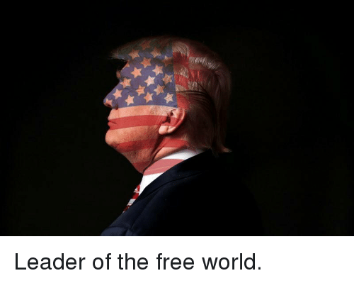Free, World, and Leader: Leader of the free world.