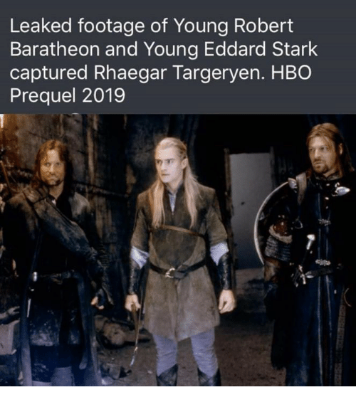 Starked: Leaked footage of Young Robert  Baratheon and Young Eddard Stark  captured Rhaegar Targeryen. HBO  Prequel 2019  e l