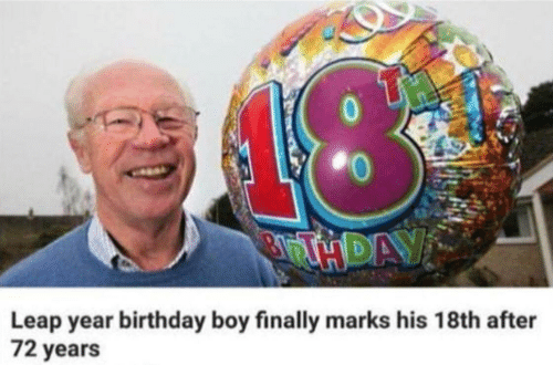 marks: Leap year birthday boy finally marks his 18th after  72 years