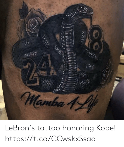Lebron: LeBron's tattoo honoring Kobe! https://t.co/CCwskxSsao