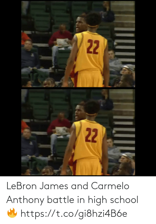 Anthony: LeBron James and Carmelo Anthony battle in high school🔥 https://t.co/gi8hzi4B6e
