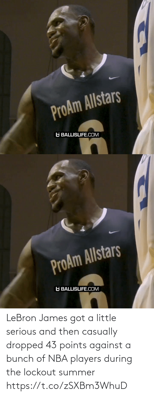 LeBron James: LeBron James got a little serious and then casually dropped 43 points against a bunch of NBA players during the lockout summer https://t.co/zSXBm3WhuD