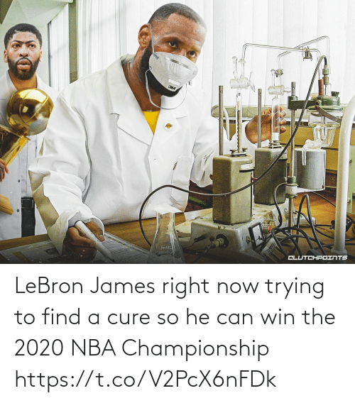 LeBron James: LeBron James right now trying to find a cure so he can win the 2020 NBA Championship https://t.co/V2PcX6nFDk