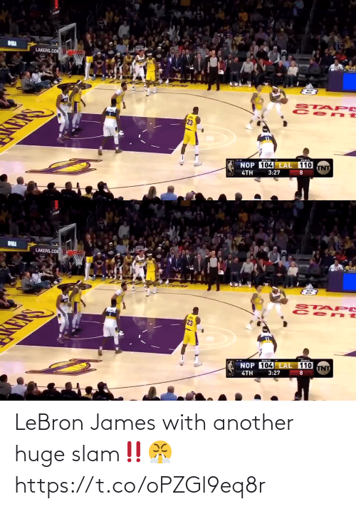 Lebron: LeBron James with another huge slam‼️😤 https://t.co/oPZGl9eq8r