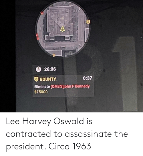 oswald: Lee Harvey Oswald is contracted to assassinate the president. Circa 1963