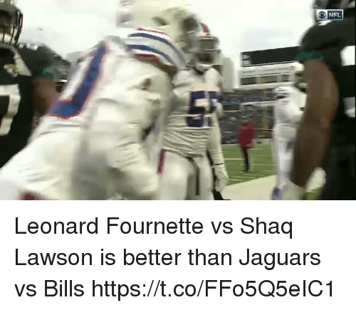 Nfl, Shaq, and Bills: Leonard Fournette vs Shaq Lawson is better than Jaguars vs Bills  https://t.co/FFo5Q5eIC1