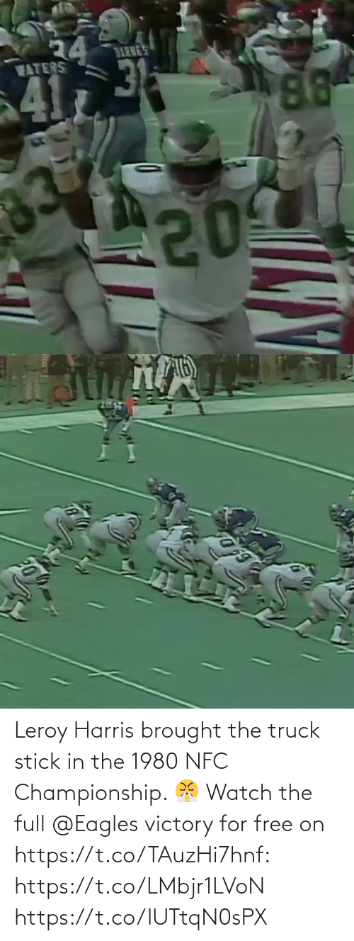 stick: Leroy Harris brought the truck stick in the 1980 NFC Championship. 😤  Watch the full @Eagles victory for free on https://t.co/TAuzHi7hnf: https://t.co/LMbjr1LVoN https://t.co/lUTtqN0sPX