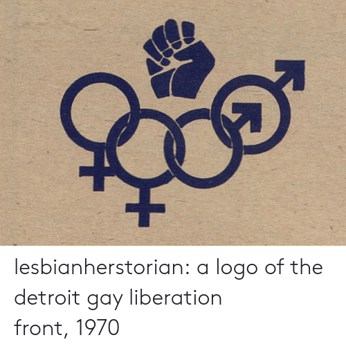 liberation: lesbianherstorian: a logo of the detroit gay liberation front, 1970