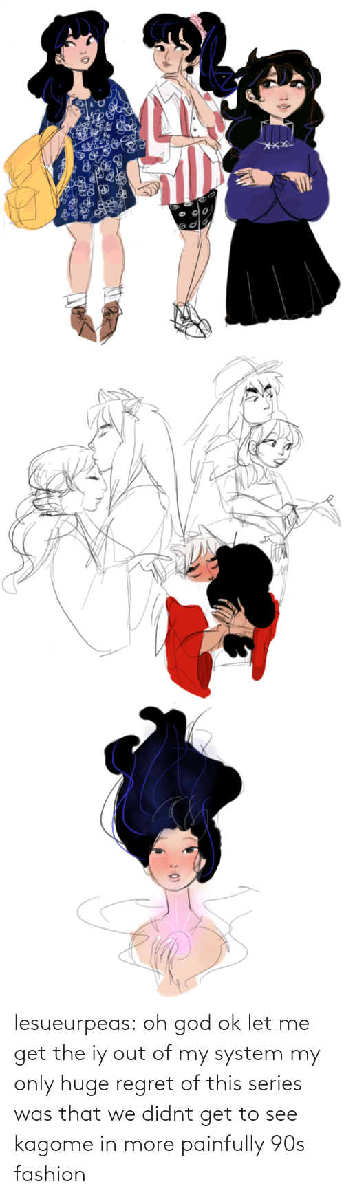 huge: lesueurpeas:  oh god ok let me get the iy out of my system my only huge regret of this series was that we didnt get to see kagome in more painfully 90s fashion