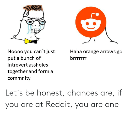 Chances: Let´s be honest, chances are, if you are at Reddit, you are one