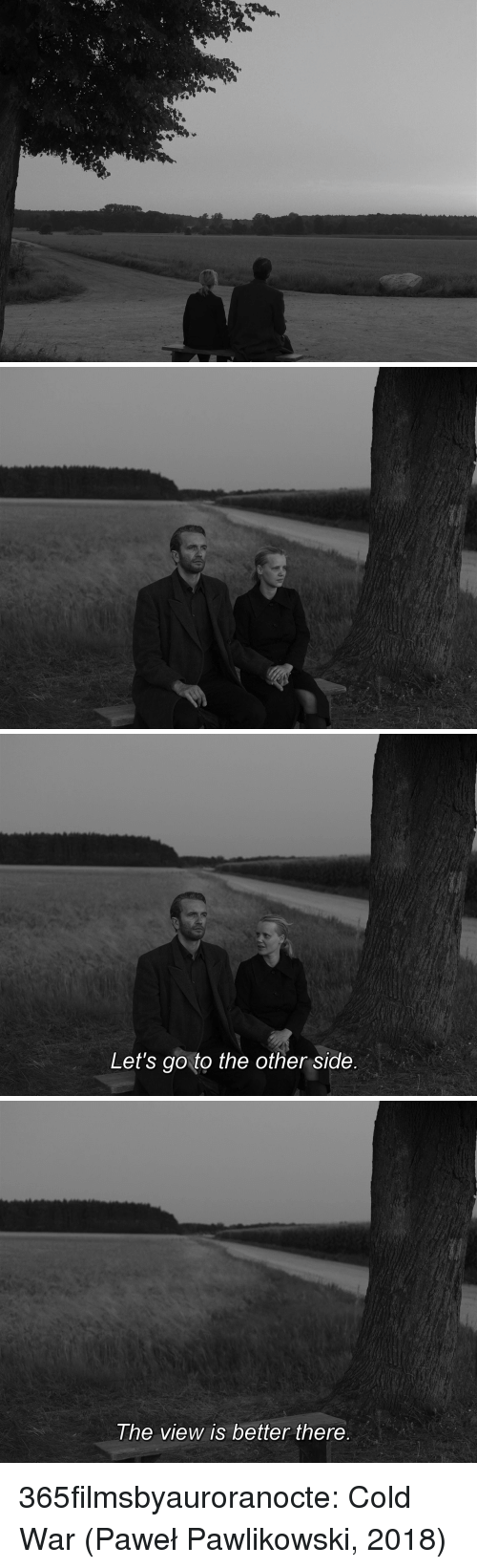 Cold War: Let's go to the other side   he view is better there 365filmsbyauroranocte:    Cold War (Paweł Pawlikowski, 2018)