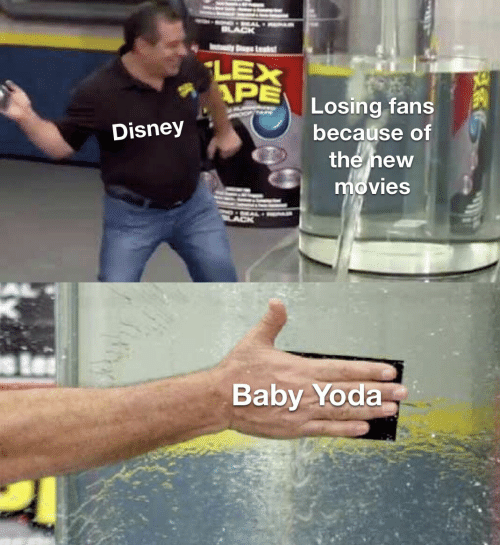 Lex: LEX  APE  Losing fans  because of  the new  movies  Disney  Baby Yoda