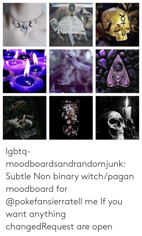 subtle: lgbtq-moodboardsandrandomjunk:  Subtle Non binary witch/pagan moodboard for @pokefansierratell me If you want anything changedRequest are open