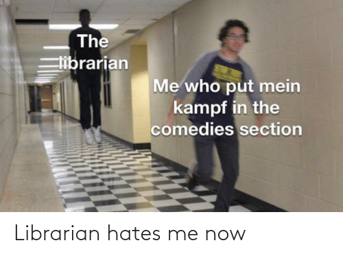 librarian: Librarian hates me now
