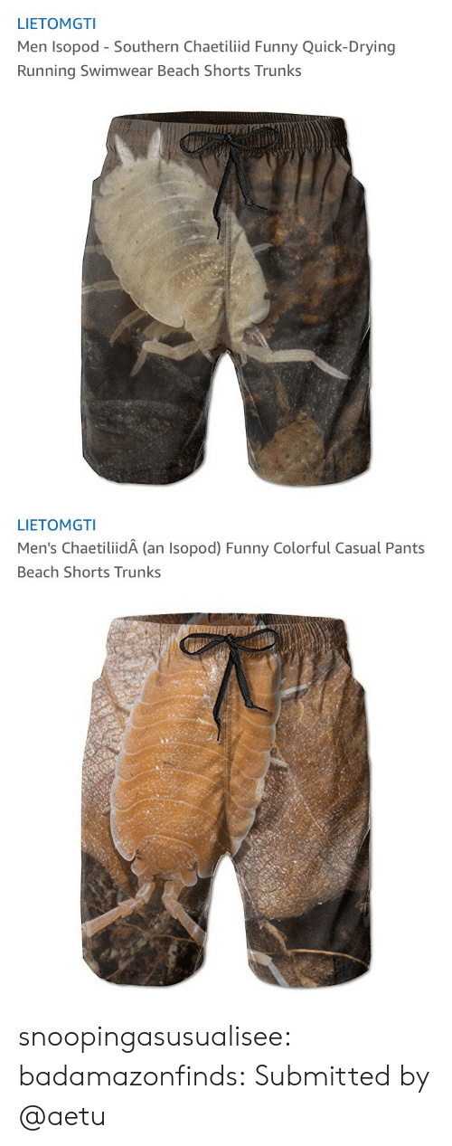 Funny, Trunks, and Tumblr: LIETOMGTI  Men Isopod - Southern Chaetiliid Funny Quick-Drying  Running Swimwear Beach Shorts Trunks   LIETOMGTI  Men's ChaetiliidA (an Isopod) Funny Colorful Casual Pants  Beach Shorts Trunks snoopingasusualisee: badamazonfinds: Submitted by @aetu