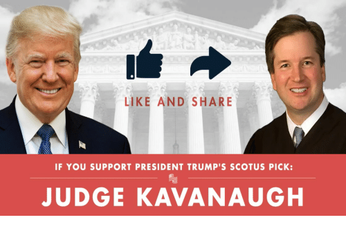 Conservative, Scotus, and Judge: LIKE AND SHARE  IF YOU SUPPORT PRESIDENT TRUMP'S SCOTUS PICK:  슨  JUDGE KAVANAUGH