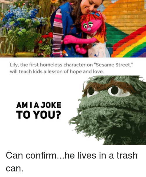Lily The First Homeless Character On Sesame Street Will Teach Kids A