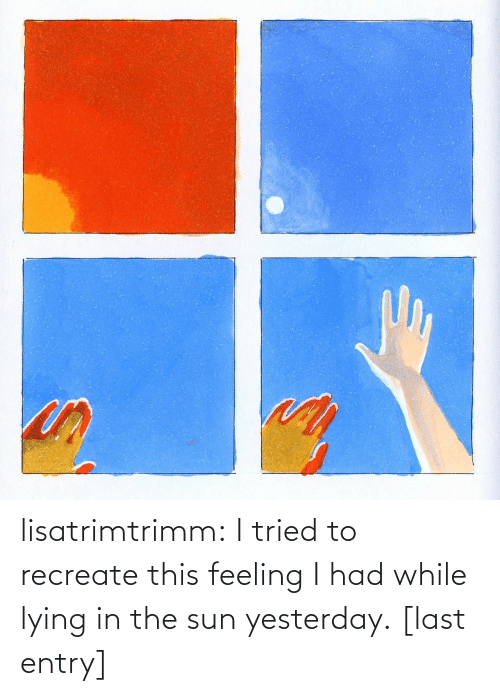 Really Nice: lisatrimtrimm: I tried to recreate this feeling I had while lying in the sun yesterday. [last entry]