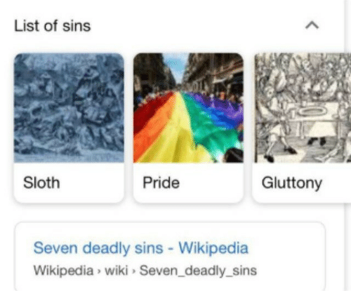 Sloth: List of sins  Sloth  Pride  Gluttony  Seven deadly sins - Wikipedia  Wikipedia wiki Seven_deadly_sins