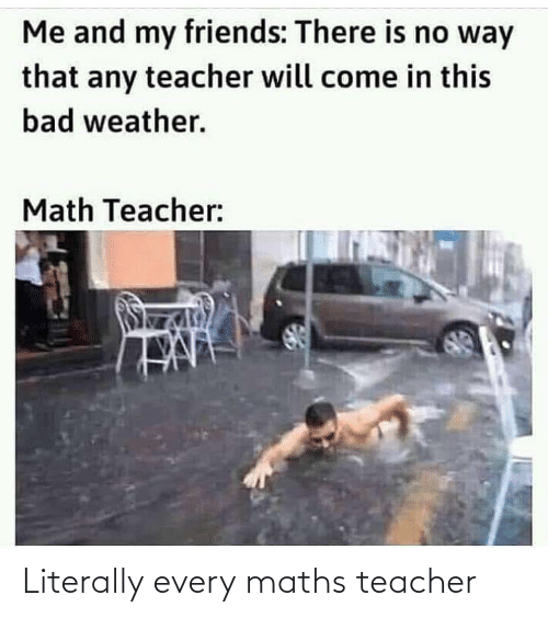Teacher: Literally every maths teacher