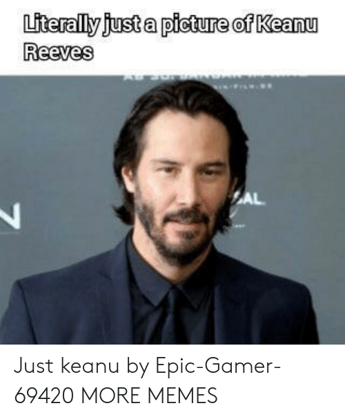 Dank, Memes, and Target: Literally just a picture of Keanu  Reeves  AL Just keanu by Epic-Gamer-69420 MORE MEMES