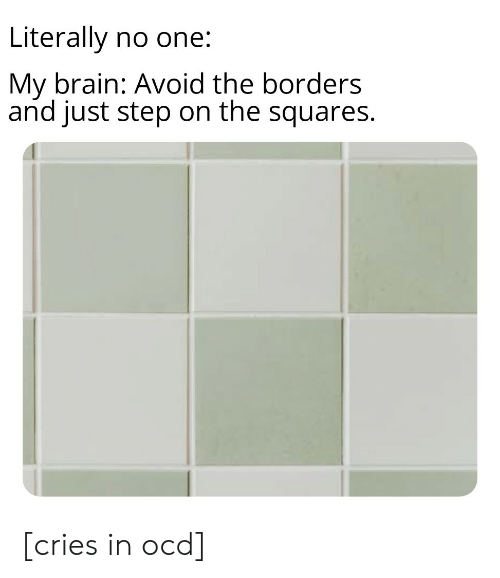 Literally No One My Brain Avoid the Borders and Just Step on