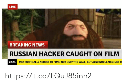 News, Breaking News, and Live: LIVE  BREAKING NEWS  RUSSIAN HACKER CAUGHT ON FILM  22:31  MEXICO FINALLY AGREES TO FUND NOT ONLY THE WALL, BUT ALSO NUCLEAR MINES T https://t.co/LQuJ85inn2