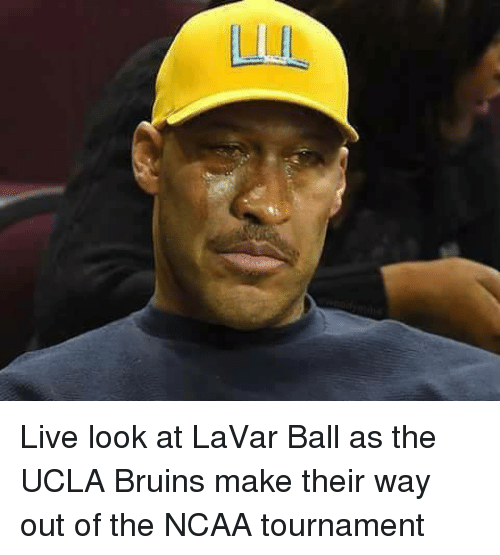 ncaa tournament: Live look at LaVar Ball as the UCLA Bruins make their way out of the NCAA tournament