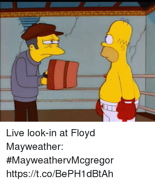 Floyd Mayweather, Mayweather, and Sports: Live look-in at Floyd Mayweather: #MayweathervMcgregor https://t.co/BePH1dBtAh
