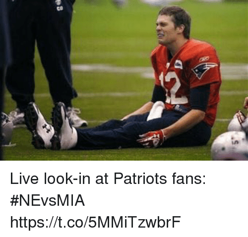 Patriotic, Sports, and Live: Live look-in at Patriots fans: #NEvsMIA https://t.co/5MMiTzwbrF
