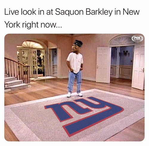 barkley: Live look in at Saquon Barkley in New  York right now