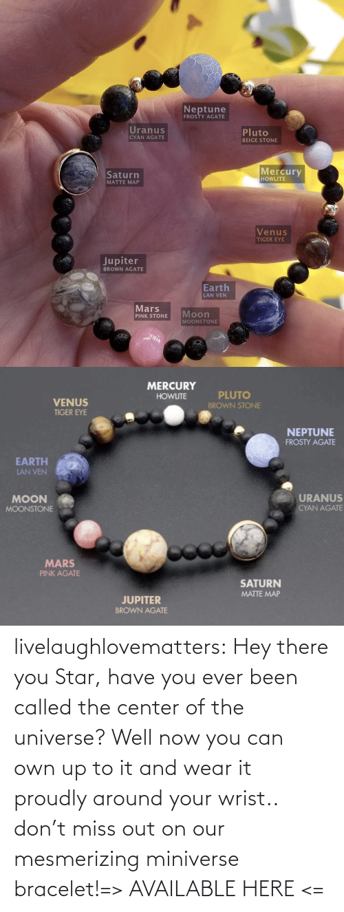 universe: livelaughlovematters:  Hey there you Star, have you ever been called the center of the universe? Well now you can own up to it and wear it proudly around your wrist.. don't miss out on our mesmerizing miniverse bracelet!=> AVAILABLE HERE <=