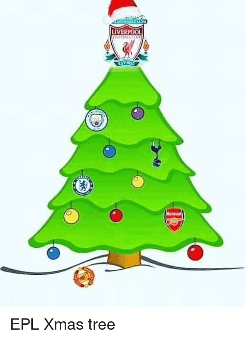 epl: LIVERPOOL EPL Xmas tree
