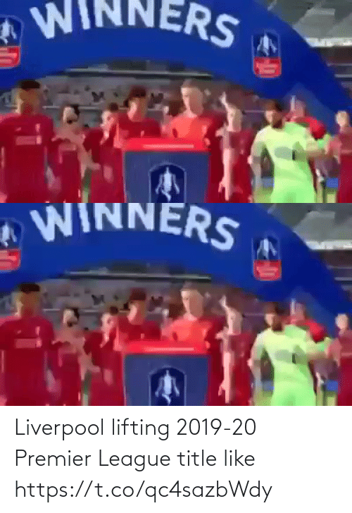 memes: Liverpool lifting 2019-20 Premier League title like  https://t.co/qc4sazbWdy