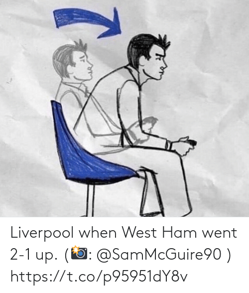 ham: Liverpool when West Ham went 2-1 up. (📸: @SamMcGuire90 ) https://t.co/p95951dY8v