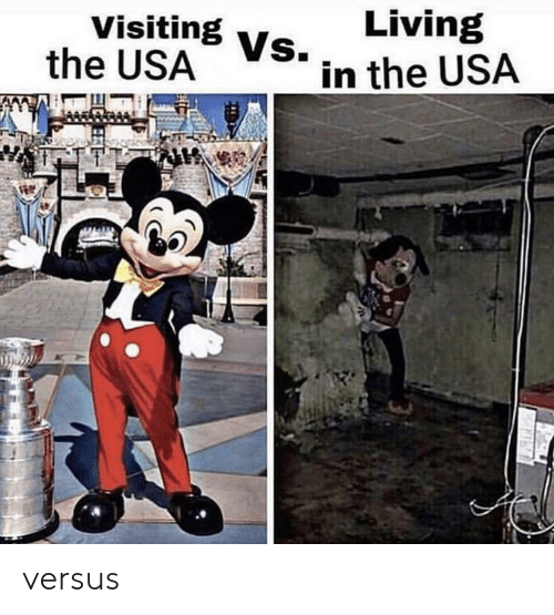 versus: Living  Visiting Vs.  the USA  in the USA versus