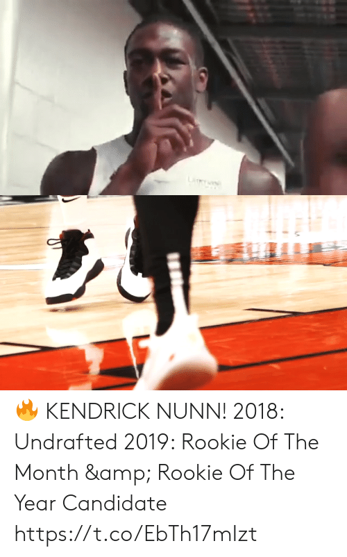 Candidate: LiY 🔥 KENDRICK NUNN!    2018: Undrafted 2019: Rookie Of The Month & Rookie Of The Year Candidate   https://t.co/EbTh17mIzt