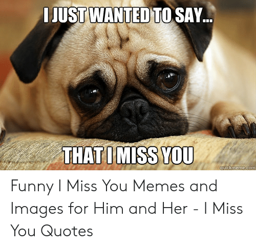 LJUST WANTED TO SAY THATIMİSSYOU Funny I Miss You Memes and
